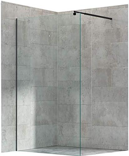 Mampara Walk de en ducha EX101 Negro – 8 mm transparente cristal ...