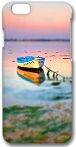Boat On Lake Tilt Shift Apple iPhone 6 Plus Case, 3D iPhone 6 Plus Cases Hard Shell Cover Skin Cases