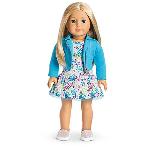 American Girl - 2017 Truly Me Doll: Light Skin, Layered Blond Hair, Blue Eyes DN27 (Doll Light Skin)