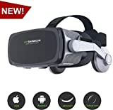 [ 2019 New Version ] Virtual Reality Headset, VR SHINECON VR Goggles VR Headsets for TV, Movies & Video Games - 3D VR Glasses Compatible with iOS, Android and Other Phones Within 4.7-6.0 inch