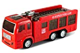 ToyThrill Electric Fire Engine Truck Toy with Automatic Sensor, 3D Star Flashing Lights and Siren Music for Kids above Age 3 Years
