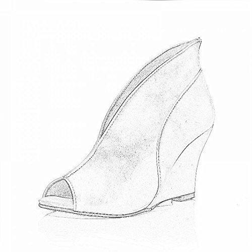 nero pumps Ankle Sandali Donna Platform Peep Sexy Odema Ankle Toe Bootie P1Uvw61q