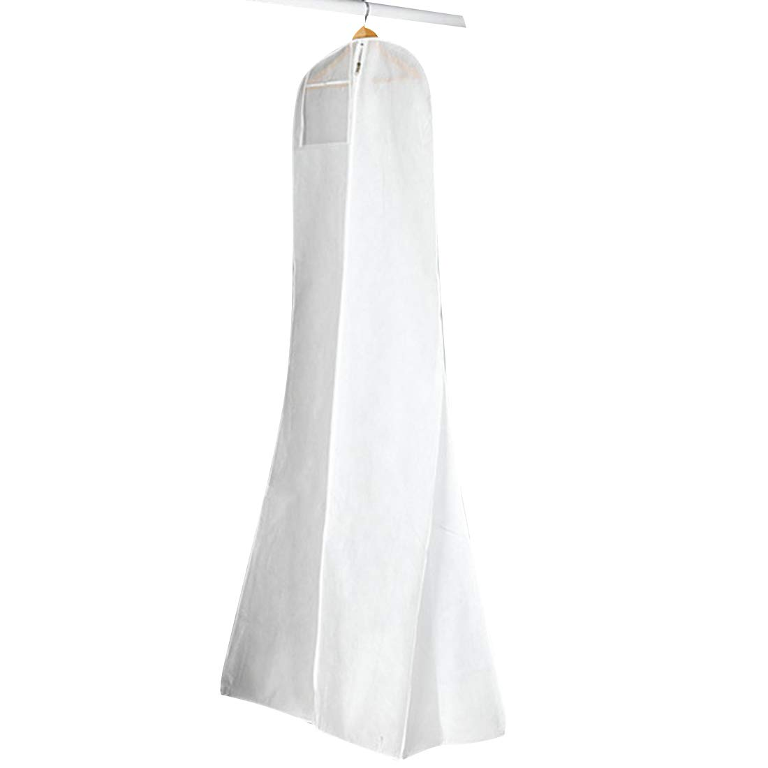 Gabkey Hanging Wedding Dress Bridal Gown Garment Cover Storage Bag Carry Zip Dustproof White