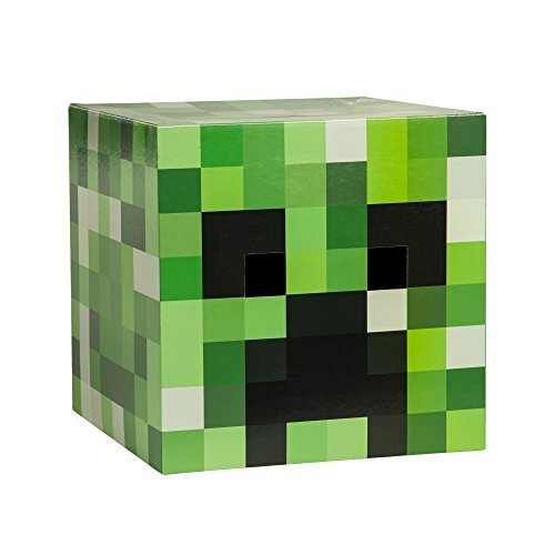 JINX Minecraft Creeper Head Costume Mask (Most Basic Halloween Costumes)