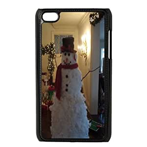 DIY A Happy Hand Made Snowman Ipod Touch 4 Case, A Happy Hand Made Snowman Custom Case for iPod Touch4 at Lzzcase