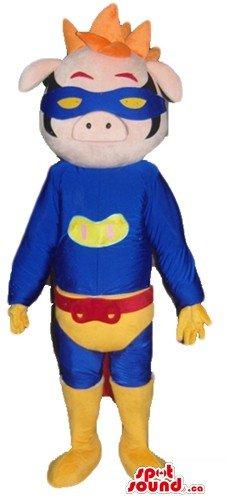 Professional Superhero Costumes (Superhero professional Piglet SpotSound Mascot US costume fancy dress)