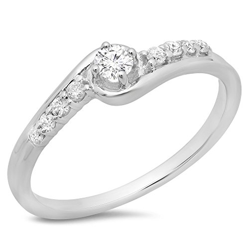 025-carat-ctw-10k-white-gold-round-diamond-twisted-wave-promise-engagement-ring-1-4-ct-size-10