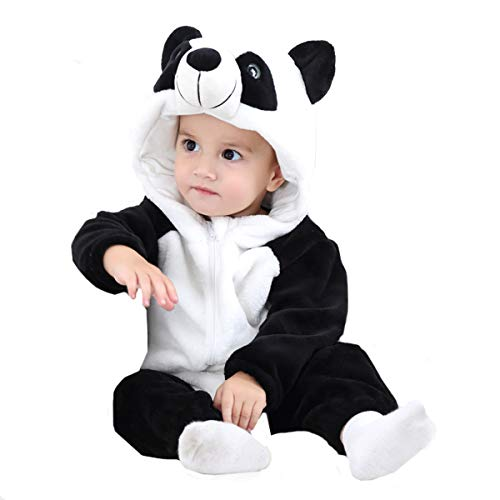 Haute Baby Sweet (Baby Boy Girls Romper Winter Autumn Flannel Jumpsuit Panda Cosplay Outfits)