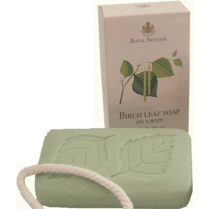 Victoria R.S. Swedish Birch Leaf Soap on a Rope - 200 gr. Bar by Victoria