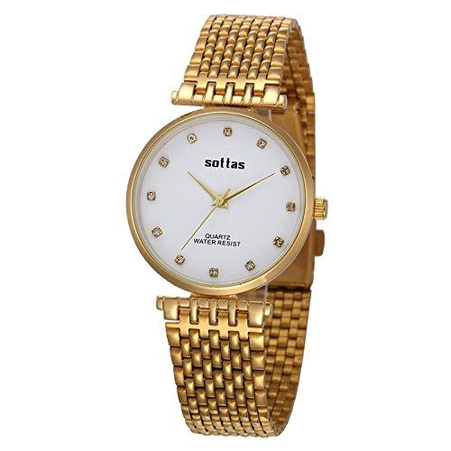 Caliente vender reloj de pulsera baratos descuento Reloj de pulsera cuarzo reloj Sra. Rey Tirano oro hombres de la marca entre Whi: Amazon.es: Relojes