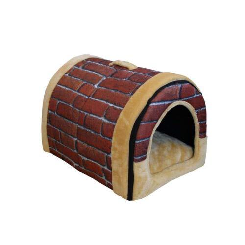 Brick L Brick L FidgetGear Coral velvet Dog Cat Bed house Sofa Soft Warm Pet Beds Sofa Couch Home