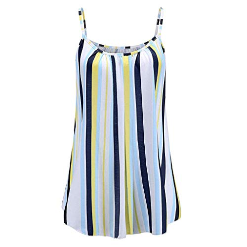 Waffle Knit Striped Hoodie - CCOOfhhc Women's Summer Color Block Pleated Vest Top Sleeveless Loose Camisole Flowy Casual Tank Tops