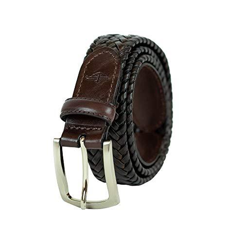 Dockers Men's Tubular Stretch Braided Belt,Brown,40