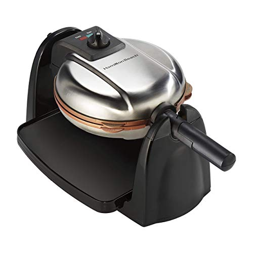 Hamilton Beach 26031 Removable Grid Belgian Waffle Maker 16.00 x 10.50 x 9.25 in (Renewed)