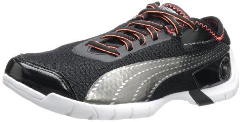 Future Footwear - PUMA Women's Future Cat Superlt Lace-Up Fashion Sneaker,Black/Steel Grey,8 B US