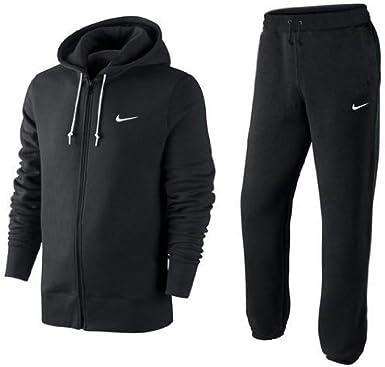 Nike Swoosh Logo Jogginganzug schwarz