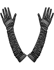 KADBLE Opera Gloves,Stretchy Long Formal Dress-up Gloves for Woman Clubs Party Ballroom