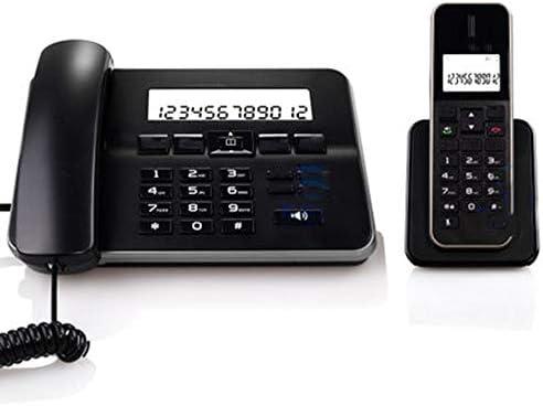 TTBB Teléfono inalámbrico Digital Negro, Auricular de Oficina (uno por uno), extensión de Auricular, teléfono Fijo, identificador de Llamadas, Ajuste de Brillo, Llamadas tripartitas: Amazon.es: Hogar