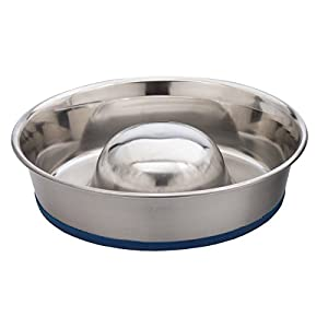 OurPets DuraPet Slow Feed Premium Stainless Steel Dog Bowl Click on image for further info.