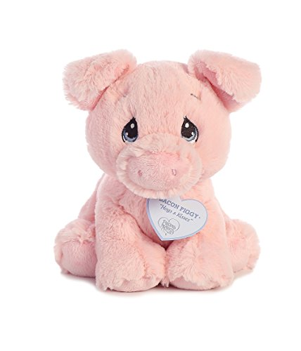 Aurora World Precious Moments Bacon Piggy-Pig Plush, 8.5