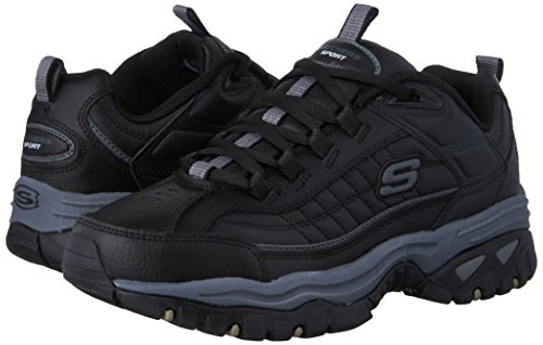Skechers Men's Energy Afterburn Lace-Up Sneaker,Black/Gray,14 M US by Skechers (Image #6)