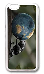 MOKSHOP Adorable Bug rolls World Soft Case Protective Shell Cell Phone Cover For Apple Iphone 6 Plus (5.5 Inch) - TPU Transparent