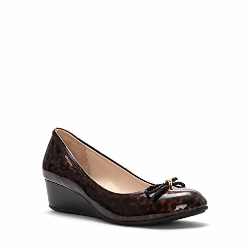 Cole Haan Womens Tali Grand Lace Wedge 40 Pump Tortoise Stampa / Stampa Di Brevetto