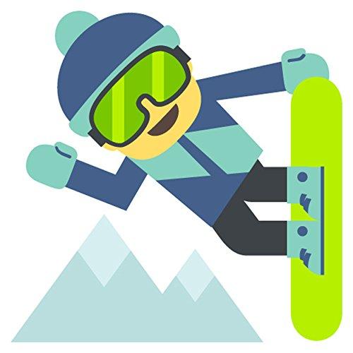 Snowboarder Emoji Metal Sign - Best Snowboarders