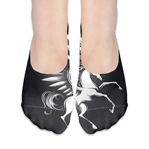 (Reewer Pegasus On Chalkboard Design Personalized Does Not Show Low-cut Invisible Thin Socks For Matching Women's Shoes Of Various Styles)