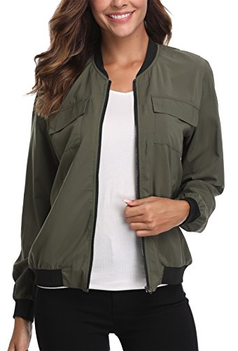 MISS Blouson Militaire Femme MOLY Vert p1AqRprw