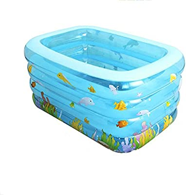 YIWANGO Piscina Inflable PVC Piscina Inflable Rectangular Inflable ...