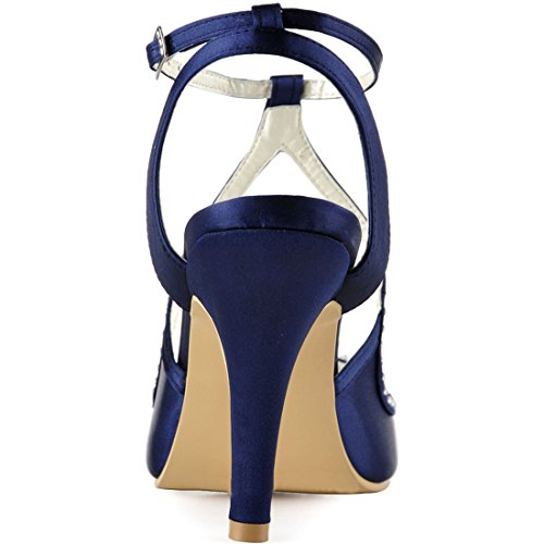 5cm Blue Heel Pour 7 Sandales Femme Minitoo Navy MinitooUK MZ8229 wq4YYx8p