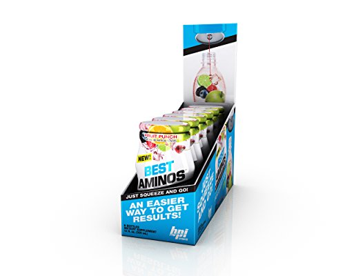 BPI  Sports Best Aminos Liquid Water Enhancer, Fruit Punch, 24 Servings per Bottle, 6 (Best Bpi L-glutamines)