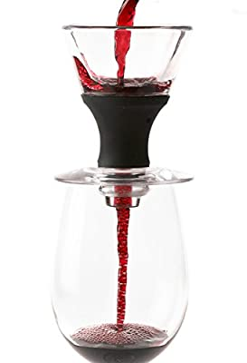 Redevino Wine Aerator Decanter Pourer Set with Glass Stand