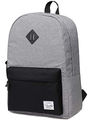 (Backpack for Men, Vaschy Water Resistant Lightweight Unisex Daypack School Rucksack Bookbag Fits 15inch)