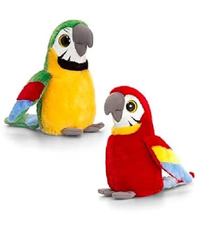Keel Toys Perroquet de luxe avec yeux brillants 25 cm: Amazon.es: Electrónica