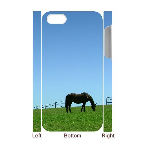 SYYCH Phone case Of Blue sky meadow and Horse Cover Case For Iphone 4/4s