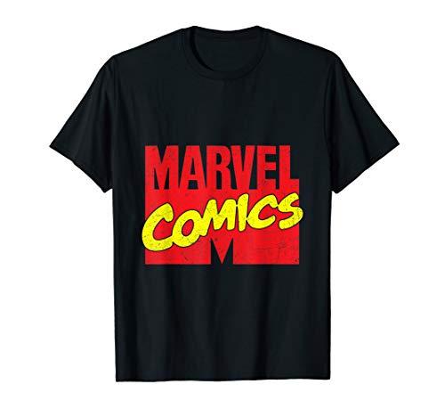 Marvel Comics Retro Distressed Logo T-Shirt