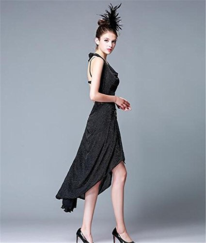 vestido la etapa danza vestido del Backless l latino la funcionamiento la de black demostración de mujer Baile de g67qxC