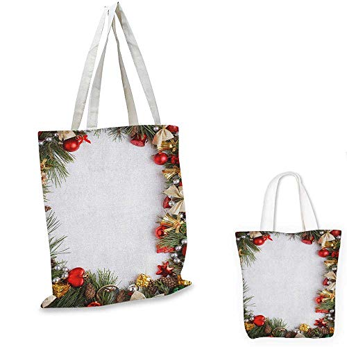 Christmas small clear shopping bag Dressed New Year Tree Bedizen Garnished Fir Needles Spruce Yuletide Border Print sloth shopping bag Multicolor. 16