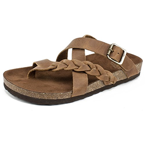 WHITE MOUNTAIN Shoes Hansen Women's Sandal, Whiskey/Leather, 7 M from WHITE MOUNTAIN