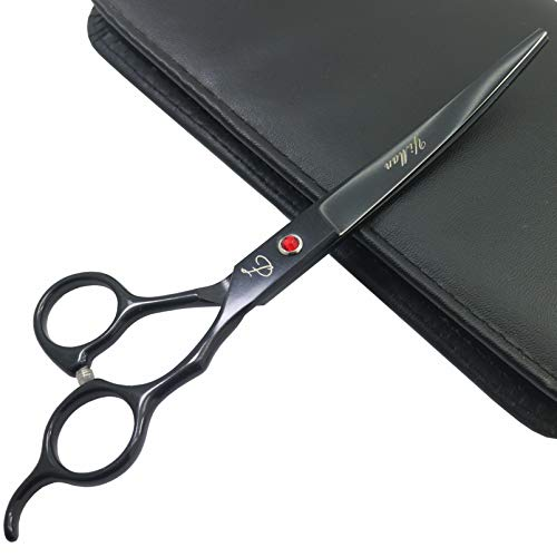 Javen 7 Inch Dog Grooming Scissors,1pcs Curved Shears Scissors Pet Grooming Tool Professional Dog Grooming Hair Scissors,Grooming Scissorss for Dogs Cats and Other Animals