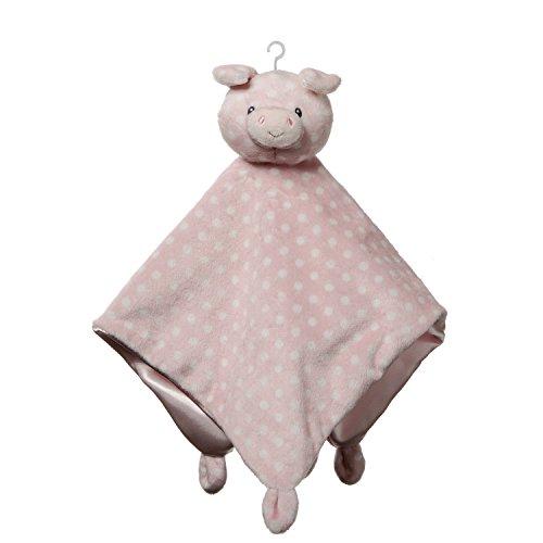 GUND Baby Roly Polys Pig Lovey Stuffed Animal Plush Blanket, Pink, 14