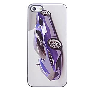 GJY Blue Racing Car Pattern Aluminium Hard Case for iPhone 5/5S