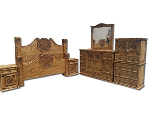 Texas Star Rustic Bedroom Set With Rope Accents Solid Wood King Beds And Mattresses Store