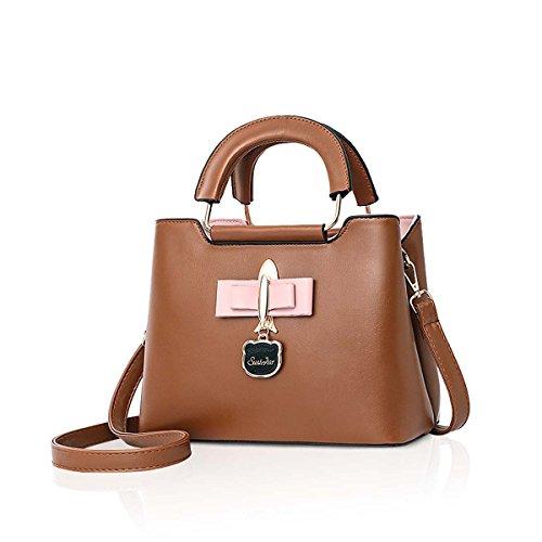 2018 Pendant Women Handbag NICOLE amp;DORIS Brown Tote New Crossbody Shoulder PU Fashoin Black Bag Bag Bag Hardware Casual for Girls fR65xn6