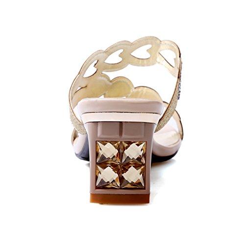AdeeSu - Zapatos con tacón mujer albaricoque