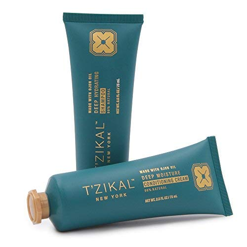 T'zikal Bare Project with Ojon Oil (Small) - Natural Shampoo and Conditioner Set - Used as a Deep Hydrating Conditioning Treatment for Natural Hair, Curly Hair and Color Treated Hair - Paraben Free