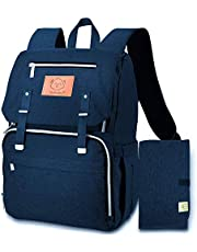 Diaper Bag Backpack for Mom and Dad - Large Multi-Functional Maternity Nappy Bag