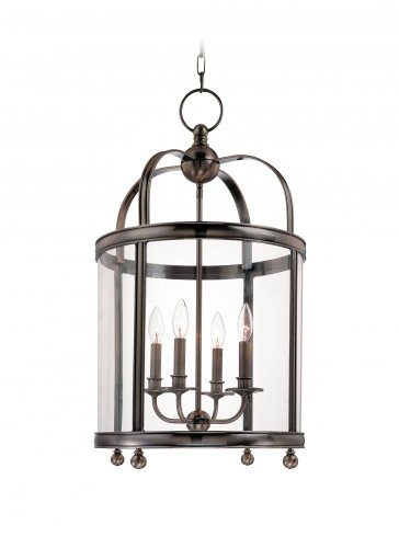 Larchmont 4-Light Pendant - Polished Nickel Finish with Clear Glass ()